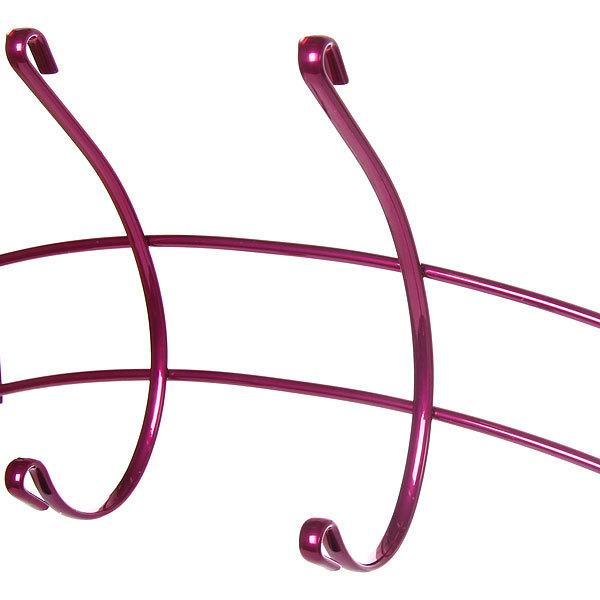 Вешалка надверная 4 крючка 28х18см HP135-C розовая купить оптом и в розницу
