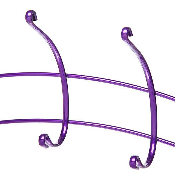 Вешалка надверная 5 крючков 35х18см HP134-C фиолетовая купить оптом и в розницу