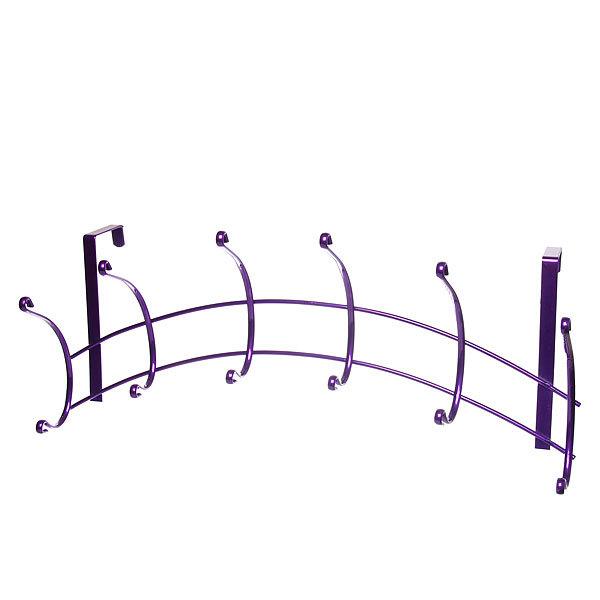 Вешалка надверная 6 крючков 45х18см HP133-C фиолетовая купить оптом и в розницу