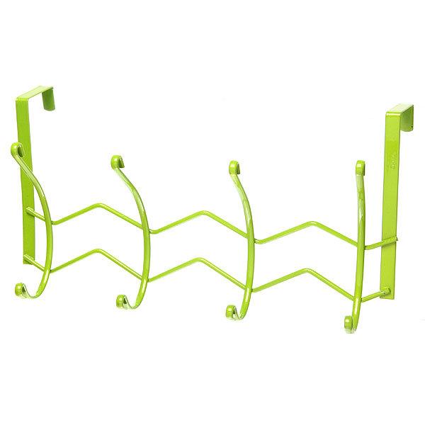 Вешалка надверная 4 крючка 33х18см HP126-C зеленая купить оптом и в розницу