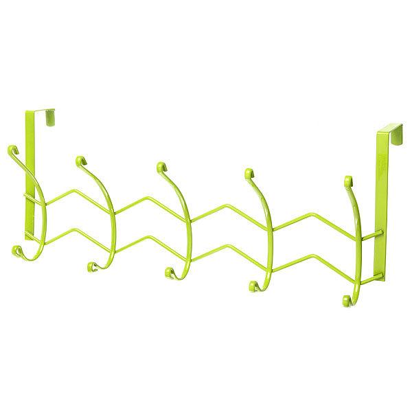 Вешалка надверная 5 крючков 42х18см HP125-C зеленая купить оптом и в розницу