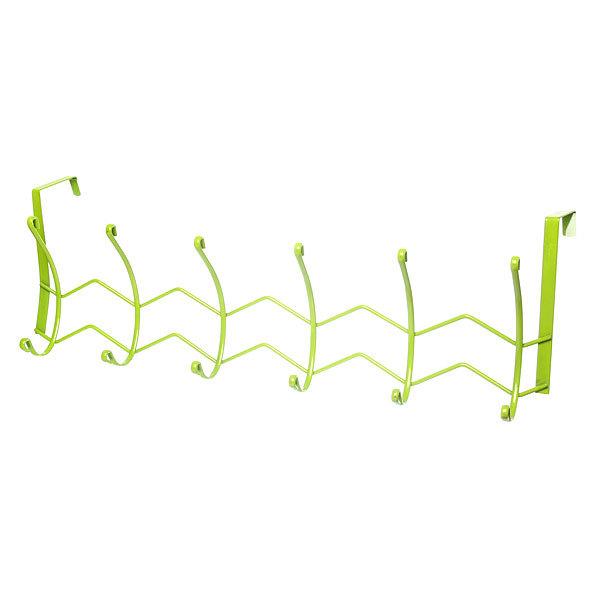 Вешалка надверная 6 крючков 52х18см HP124-C зеленая купить оптом и в розницу