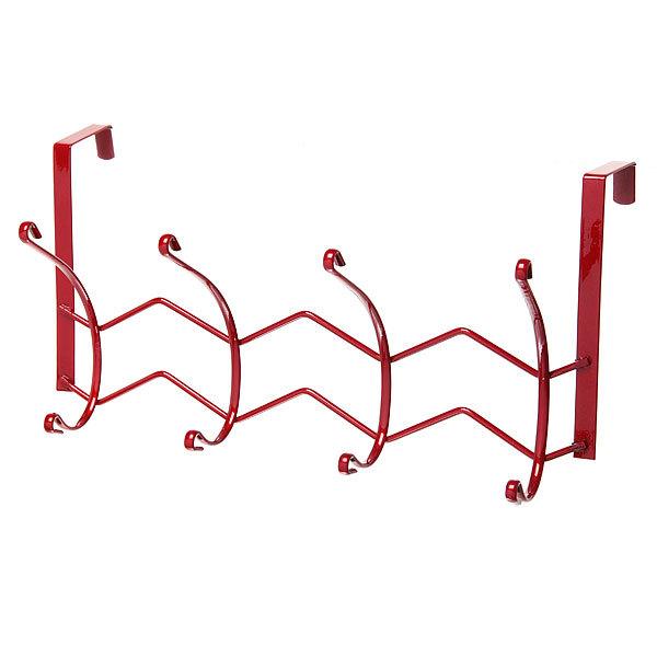 Вешалка надверная 4 крючка 33х18см HP126-C красная купить оптом и в розницу