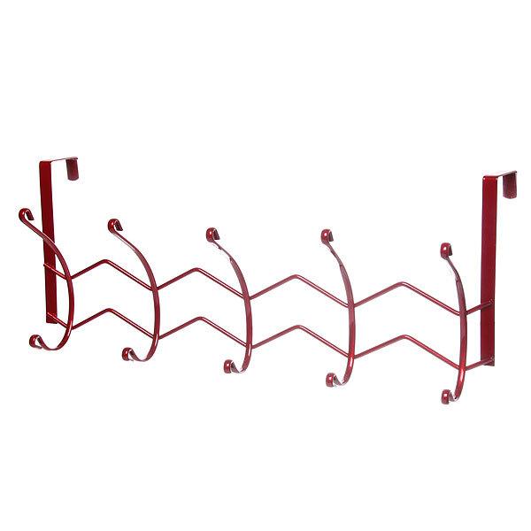 Вешалка надверная 5 крючков 42х18см HP125-C красная купить оптом и в розницу
