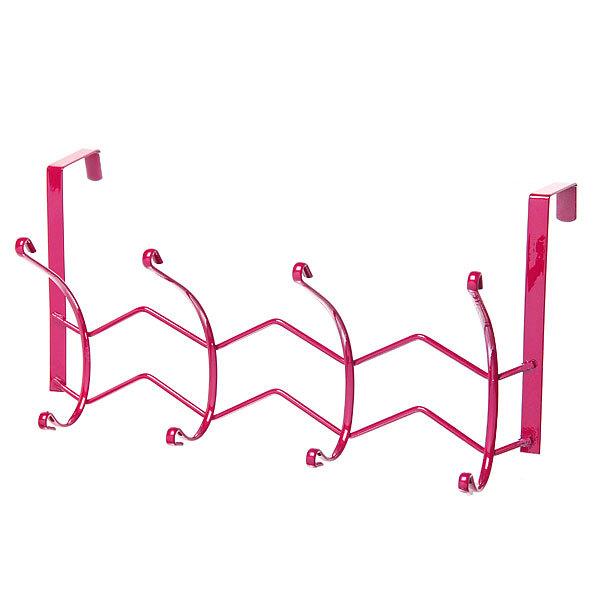 Вешалка надверная 4 крючка 33х18см HP126-C розовая купить оптом и в розницу