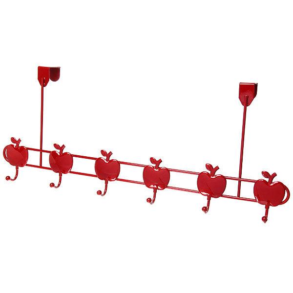 Вешалка надверная 6 крючков 57х23см G29-6M яблоко купить оптом и в розницу