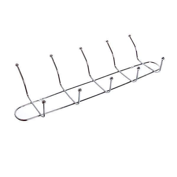 Вешалка настенная 5 крючков 42,5х12,5см G01-5 купить оптом и в розницу