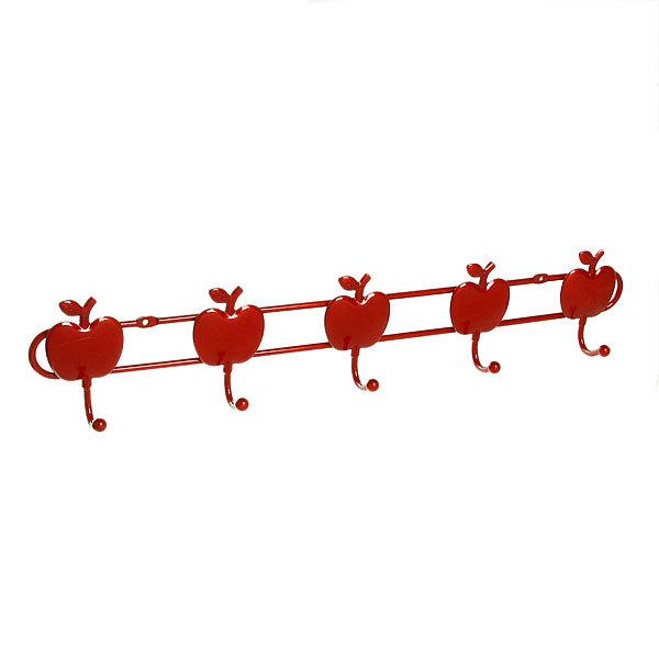 Вешалка настенная 5 крючков 47х9см G29-5 яблоко купить оптом и в розницу