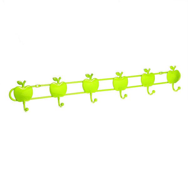 Вешалка настенная 6 крючков 57х9см G29-6 яблоко купить оптом и в розницу