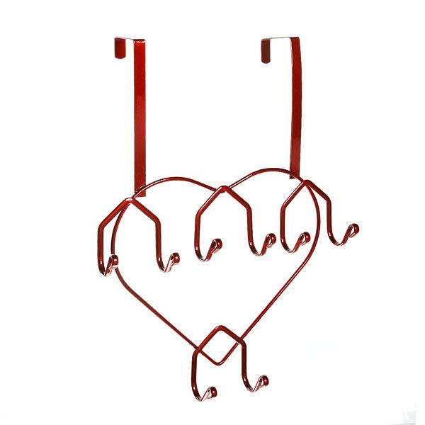 Вешалка надверная 8 крючков 27х36см HP142-C красная купить оптом и в розницу