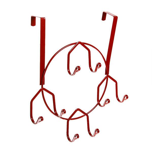 Вешалка надверная 8 крючков 25х30см HP143-C красная купить оптом и в розницу