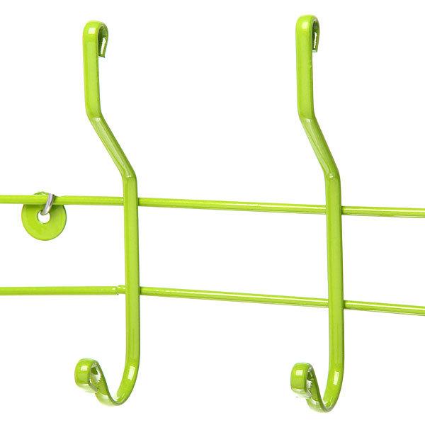 Вешалка настенная 4 крючка 33х14,5см HP012-DC зеленая купить оптом и в розницу