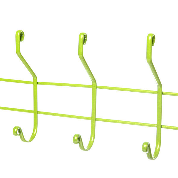 Вешалка настенная 6 крючков 50х14,5см HP004-DC зеленая купить оптом и в розницу