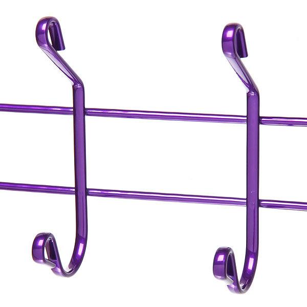 Вешалка настенная 5 крючков 42х14,5см HP008-DC фиолетовая купить оптом и в розницу