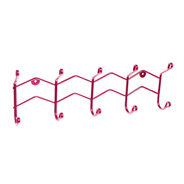 Вешалка настенная 5 крючков 38х15см HP125-DC розовая купить оптом и в розницу