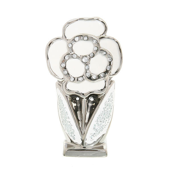 Статуэтка из керамики ″Серебряный цветок″ Роза 19*10см купить оптом и в розницу