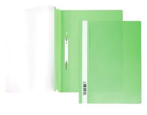 Папка-скоросшиватель A4 Hatber 140/180 мкм зеленая , пластик, прозр.верх купить оптом и в розницу