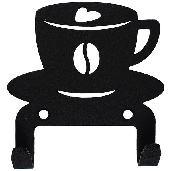 Крючок универсальный, серия ″Кухня″, модель ″Чашка кофейная - 2″, цвет черный купить оптом и в розницу