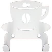Крючок универсальный, серия ″Кухня″, модель ″Чашка кофейная - 2″, цвет белый купить оптом и в розницу