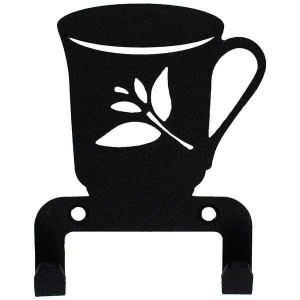 Крючок универсальный, серия ″Кухня″, модель ″Чашка - 2″, цвет черный купить оптом и в розницу