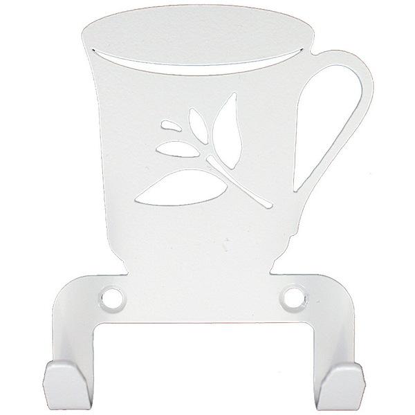Крючок универсальный, серия ″Кухня″, модель ″Чашка - 2″, цвет белый купить оптом и в розницу