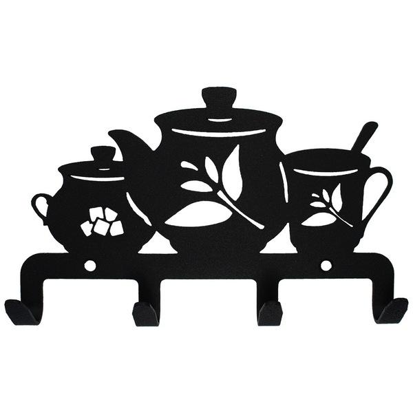 Крючок универсальный, серия ″Кухня″, модель ″Сервиз - 4″, цвет черный купить оптом и в розницу