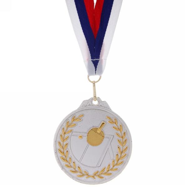 Медаль ″ Настольный теннис ″- 2 место (6,5см, два цвета) купить оптом и в розницу
