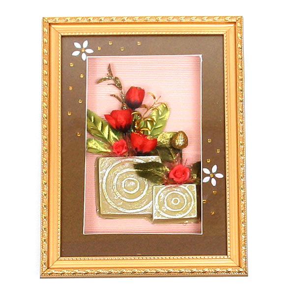 Картина объемная 32*24см ″Цветы″стекло купить оптом и в розницу