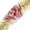 Мишура новогодняя 2 метра 9см ″Зебра″ розовый, золотой купить оптом и в розницу