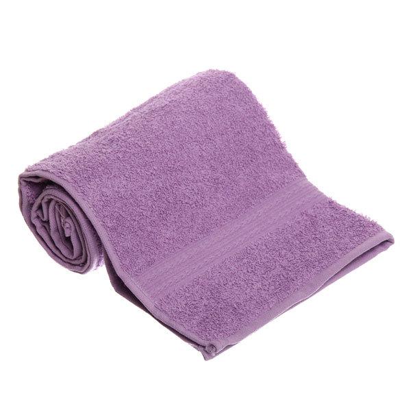 Махровое полотенце 40*70см сиреневое ЭК70 Д01 купить оптом и в розницу