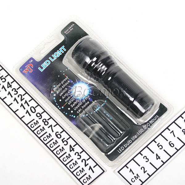Фонарь карманный металлический 1 LED 1W 3AAA, с фокусировкой, WJ-817 купить оптом и в розницу
