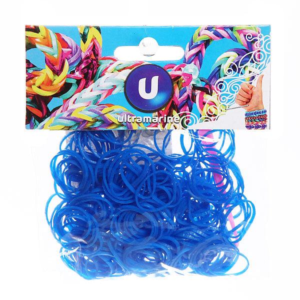 Резинки для плетения 300шт синие с крючком и S-клипсами купить оптом и в розницу