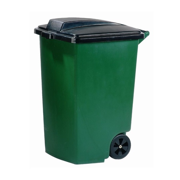Контейнер для мусора на колесах 100 л Curver зеленый/4 шт купить оптом и в розницу