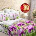 Дуэт бязь 3D Орхидея 3980/2 РБ купить оптом и в розницу
