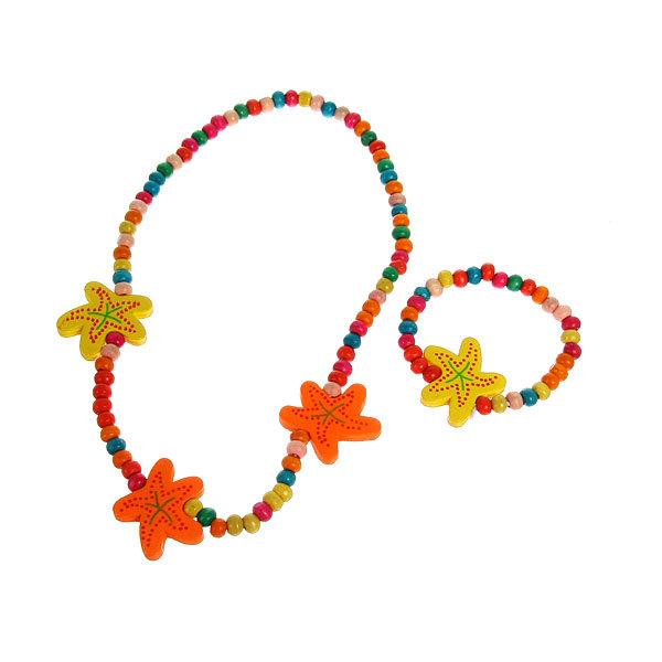 Бусы с браслетом ″Лара″ морская звезда, цвет микс купить оптом и в розницу