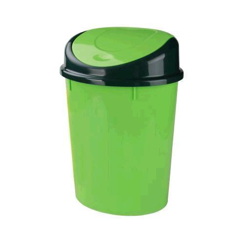 Контейнер для мусора 8л (овальный)(зелёный)(уп.5)  (Октябрьский) купить оптом и в розницу
