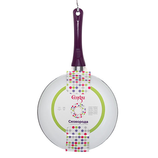 Сковорода ″Селфи-Фиолет″ d-28 см 2,5 мм с керамическим покрытием TCZ-28 купить оптом и в розницу