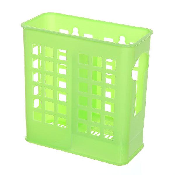 Подставка для столовых приборов 14*14*7см пластиковая, 2 секции купить оптом и в розницу