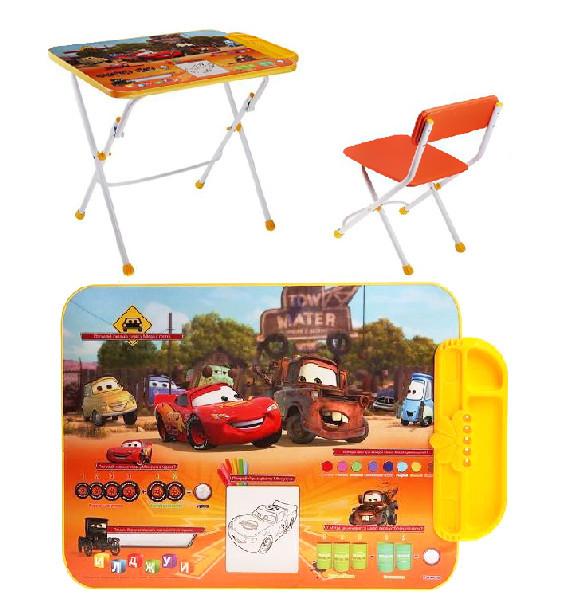 Набор детской мебели ″Дисней.Тачки″ складной, с пеналом, мягкий стул Д3Т купить оптом и в розницу