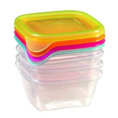 Набор контейн. для СВЧ FRESH&GO Curver 4шт* 0,45л mix/прозрачн. / 6 шт купить оптом и в розницу