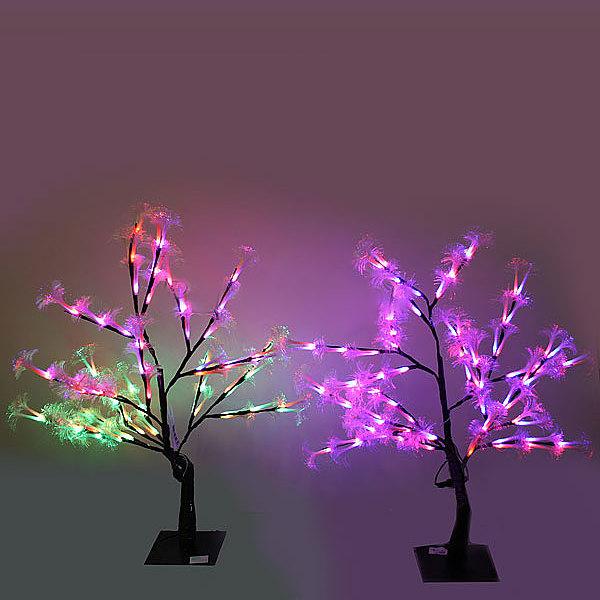 Световое дерево LED 50см, ″Куст окации″,2 цвета, оптоволокно, 8 режимов купить оптом и в розницу