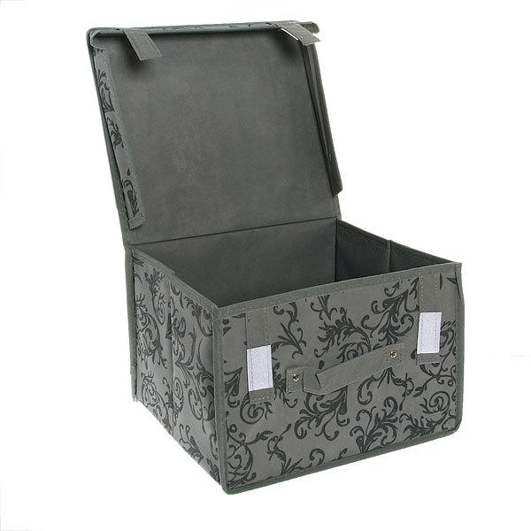 Коробка д/хранения вещей 30*27*20 завитки купить оптом и в розницу