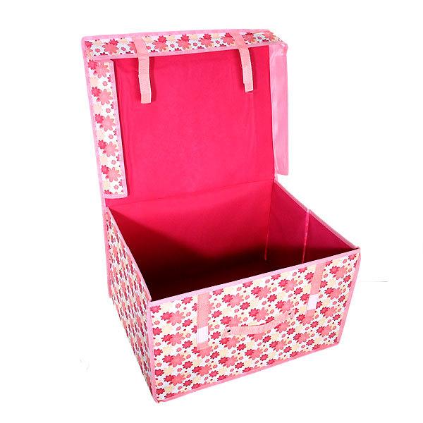 Коробка д/хранения вещей 50*40*30 цветы купить оптом и в розницу