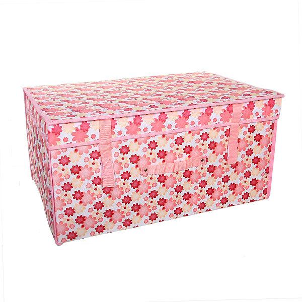 Коробка д/хранения вещей 60*40*30 цветы купить оптом и в розницу