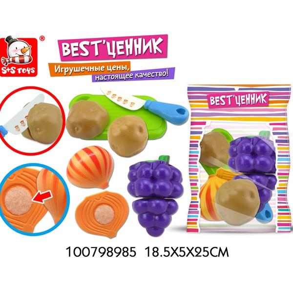 """Набор фруктов для резки 100798985 BEST""""ценник в пак. купить оптом и в розницу"""