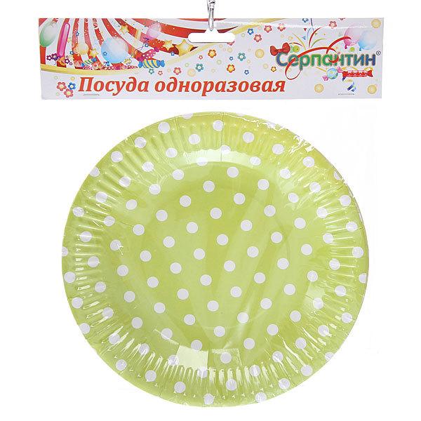 Тарелка бумажная 18 см в наборе 10 шт ″Горошек″ купить оптом и в розницу