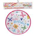 Тарелка бумажная 18 см в наборе 10 шт ″С днем рождения″ купить оптом и в розницу