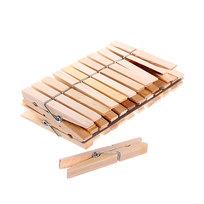 Прищепки деревянные (24шт.) 7см купить оптом и в розницу