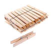 Прищепки деревянные (24шт.) 7,4см купить оптом и в розницу