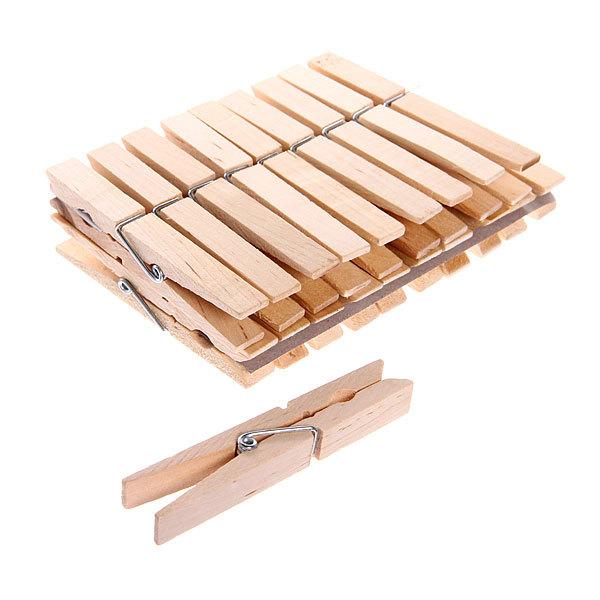 Прищепки деревянные (20шт.) 9см купить оптом и в розницу